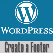 Wordpress Create Footer
